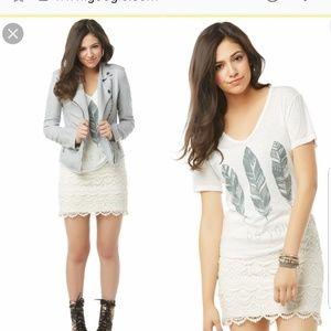 Bethany Mota Aeropostale white lace skirt XS